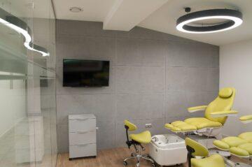 Architectural concrete in the beauty salon